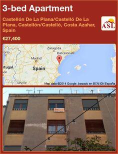 3-bed Apartment in Castellón De La Plana/Castelló De La Plana, Castellón/Castelló, Costa Azahar, Spain ►€27,400 #PropertyForSaleInSpain