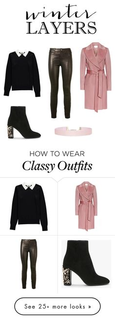 """""""Classy  but flirty"""" by busrayilmaz1998 on Polyvore featuring Essentiel, J Brand and Humble Chic"""