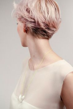 short hair. Love the back of this. This would be a great grow it out stage :)