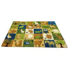 Costco: Earthtone Animals Alphabet Rug