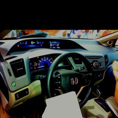 Beautiful- Honda Civic 2012 interior :) my favorite part of my car