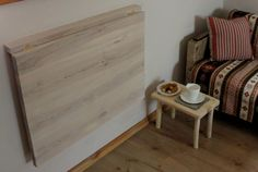 Wooden wall mounted drop leaf dining table in by GoodMoodWoods