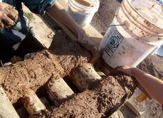 For a cob mortar mix: 5 gallons clay soaked in water, 5 gallons sawdust, 5 gallons dry manure, 5 gallons sand, 2-1/3 c. flour glue/EM, 1/3 c. psyllium powder, and 1 tsp. EM ceramic powder and 1-2 gallons of water. www.home-n-stead.com & www.daycreek.com