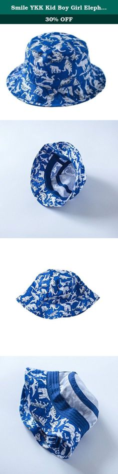 Smile YKK Kid Boy Girl Elephant Pattern Wide Brim Beach Sun Hat Bucket Hat Cloche Hat 48cm. Material:Cotton Size:46cm 48cm 50cm 52cm 54cm Great for most outdoor activities ...Fishing, Hiking, Boating, Hunting/ Cotton Blend High quality materials Please select the actual choice according to the actual baby head +1.5CM, this is the cotton products, after all, suitable for infants and young children Simple feel good fabric and lightweight. Completely crushable and packable, great for travel!.