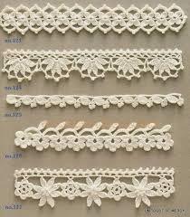Resultado de imagen para caminos de mesa con puntillas al crochet