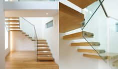 Schwebende Treppe glas schraube