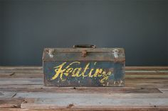 HandLettered Vintage Toolbox by MidwestAestheticCo on Etsy