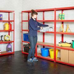 Garage Shelving Mega Deals Longspan Shelving, Garage Shelving Units, Industrial Shelving Units, Garage Storage Racks, Steel Shelving, Shed Storage, Metal Shelves, Storage Boxes, Storage Shelves