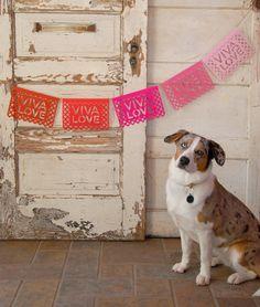 DIY Fiesta Banner - Viva Love