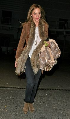 Almost bought one of these jackets - but it wasn´t in my size. Oh no. Trinny Woodall in North London
