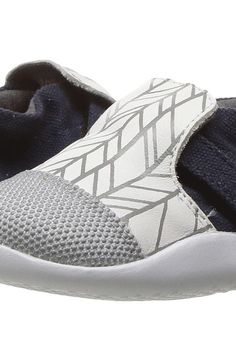 Bobux Kids Step Up Play Xplorer City (Infant/Toddler) (White Herringbone)