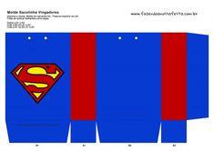 Sacolinha Lembrancinha Super-Heróis Super Homem