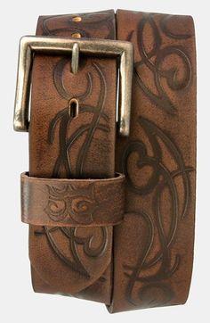 T3>< Laser Etched Leather Belt