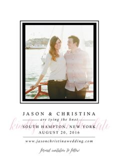 save the date cards - Hampton by Sincerely Jackie