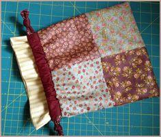 Patchwork Drawstring Bag Tutorial