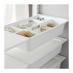 IKEA ALGOT post/foot/box Can also be used in bathrooms and other damp areas indoors. Ikea Algot, Bedroom Closet Doors, Ikea Closet, Loft Storage, Cupboard Storage, Laundry Cupboard, Bathroom Built Ins, Bathroom Closet Organization, Ikea Decor
