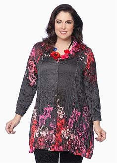 View All Clearance - MORGAN TUNIC SHIRT - This is really very pretty. First time I saw it online and it's sold out except for sizes 14 and Tunic Shirt, Tunic Tops, Plus Size Womens Clothing, Clothes For Women, Taking Shape, Size 14, Cold Shoulder Dress, Tunics