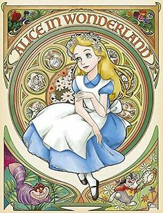 Yanoman Jigsaw Puzzle Disney Reverie Alice in Wonderland 300 Pcs Bel Art for sale online Disney Kunst, Arte Disney, Disney Art, Disney And Dreamworks, Disney Pixar, Disney Characters, Alice In Wonderland Illustrations, Arte Sketchbook, Art For Sale Online