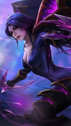Lol League Of Legends, Katarina League Of Legends, Akali League Of Legends, Dark Fantasy Art, Fantasy Kunst, Fantasy Girl, Snk King Of Fighters, Character Art, Character Design