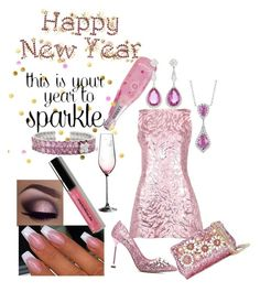 """SPARKLE, BLING AND PRETTY PINK THINGS!! HNY 2018!!"" by lensesrmything ❤ liked on Polyvore featuring Royal Albert, Bayco, Blue Nile, Balenciaga, Miu Miu, Dolce&Gabbana and Bobbi Brown Cosmetics"