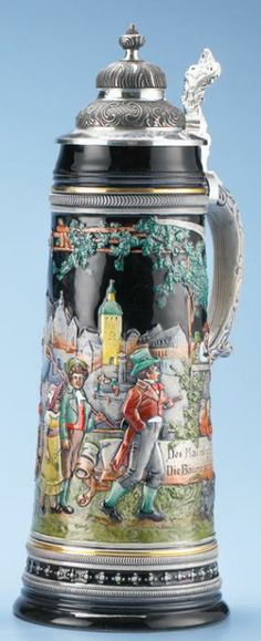 MAY STROLL STEIN - Authentic Beer Steins from Germany