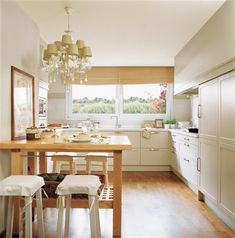 organizing a small office with two desks Office With Two Desks, Small Office, Kitchen Room Design, Kitchen Dining, Breakfast Bar Kitchen, Home Upgrades, Cozy House, Home Kitchens, Kitchen Remodel