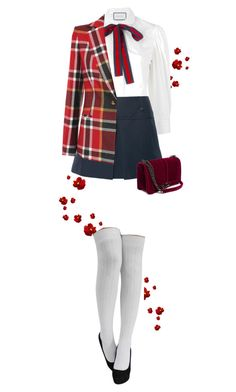 """Preppy look on valentines day"" by cattrina-k ❤ liked on Polyvore featuring Gucci, Totême and Vivienne Westwood Red Label"