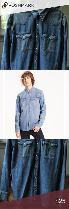 Levi's Barstow Denim Shirt for Men Size XXL Pre-owned but in excellent condition as it was only worn once. LIKE NEW! May look slightly darker due to lighting. Levi's Shirts Casual Button Down Shirts