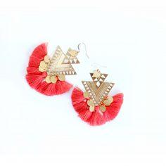 Boucle d'oreille BAIA or Tassels, Ethnic, Mood, Drop Earrings, Jewels, Inspiration, Ears, Boucle D'oreille, Locs