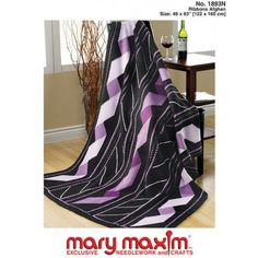 Mary Maxim - Ribbons Afghan Pattern - Afghan Patterns - Patterns - Patterns & Books