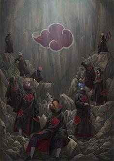 gambar akatsuki, naruto, and anime Naruto Shippuden Sasuke, Naruto Kakashi, Anime Naruto, Manga Anime, Sasuke Sakura, Gaara, Boruto, Itachi Akatsuki, Akatsuki Clan