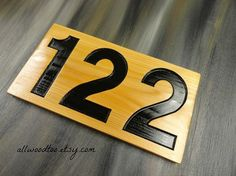 House Address Sign Street Address Cedar Wood by AllWoodToo on Etsy