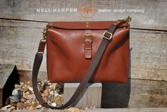 Handstitched Leather Messenger Bag, Handmade from Italian leather with real Brass Hardware-Everyday Leather Bag, will fit IPad and much more