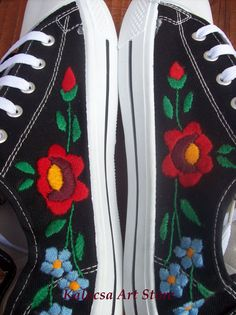 Sneakers for men Kalocsai embroidery by KalocsaArtStore on Etsy, $44.00