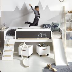Unique Kids Beds limited edition play, learn sleep bed by lifetime - HYETKTD - Home Decor Ideas Unique Kids Beds, Cool Beds For Kids, Cabin Beds For Kids, Kids Bed With Slide, Childrens Bed With Slide, Cabin Bed With Slide, Bed Slide, Kids Bunk Beds, Kids Beds Diy