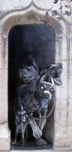 Cerberus: También conocido como Can Cerbero, era el perro de 3 cabezas de Hades.