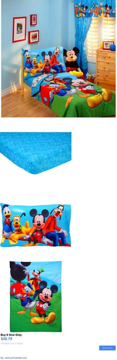 Kids at Home: Mickey Mouse Clubhouse Toddler Bed Crib Bedding Set Sheet Comforter Kids Bedroom BUY IT NOW ONLY: $48.79 #priceabateKidsatHome OR #priceabate
