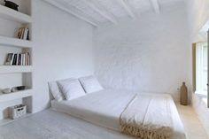 dormitorio: blanco sobre blanco: optimista refrescante