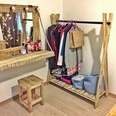 Wooden hangers - wooden furniture - other , Diy Home Decor Bedroom, Wood Bedroom, Decoration Bedroom, Diy Interior, Wooden Coat Hangers, Restaurant Furniture, Küchen Design, Furniture Manufacturers, Easy Wood Projects