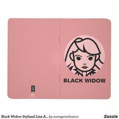 Black Widow Stylized Line Art Icon