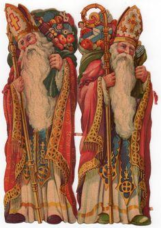 """""""St. Nicholas"""" Diecut scraps, from Czechoslovakia"""