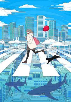 Kunst Inspo, Art Inspo, Art And Illustration, Art Illustrations, Anime Kunst, Anime Art, Anime Lion, Pretty Art, Cute Art