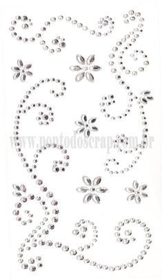 Adesivos Strass Arabescos - Floral