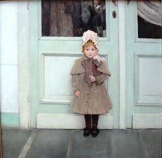 Fernand Khnopff Portrait of Jeanne Kefer 1885.  I love this little girl. saimo_mx70Flickr