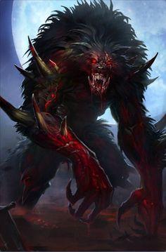 virus monster You are or better known as The Beast. Monster Art, Monster Concept Art, Fantasy Monster, Fantasy Wolf, Fantasy Beasts, Dark Fantasy Art, Dark Creatures, Mythical Creatures Art, Werewolf Art