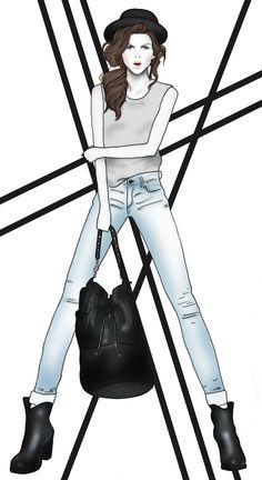 Fashion Illustration Rock Chick by BeckiBoos
