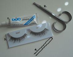 Best way to put on false eyelashes. Via Wedding Bee