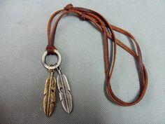 Jewelry leather necklace men necklace women by jewelrybraceletcuff