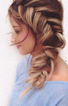 We adore this big, beautiful braid.