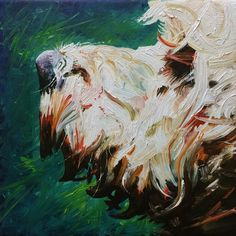 Cockapoo painting, 2014